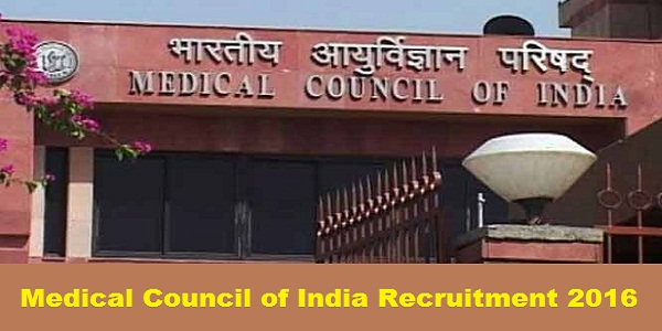 Medical-Council-of-India-Recruitment-2016