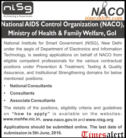 NACO Recruitment 2016