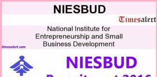 NIESBUD Recruitment 2016