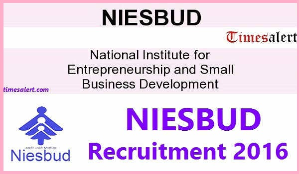 NIESBUD Recruitment 2016