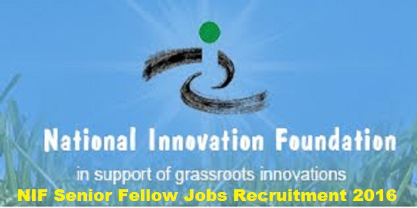 NIF Recruitment 2016