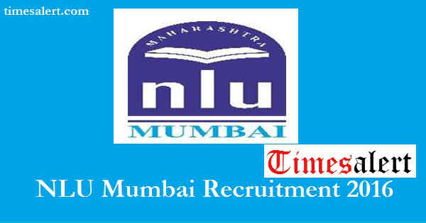 NLU Mumbai Recruitment 2016