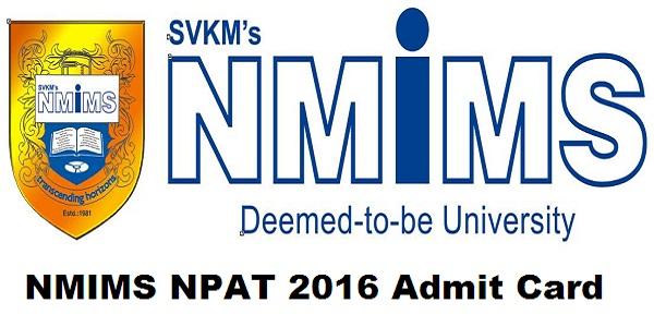 NMIMS-NPAT-2016-Admit-Card