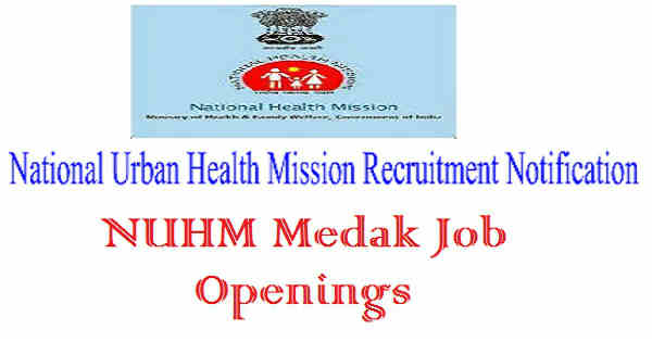 NUHM Medak Recruitment 2016