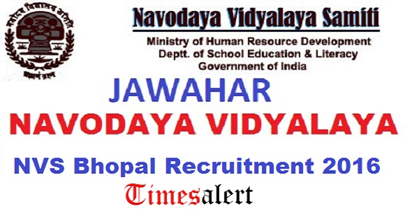 NVS-Bhopal-Recruitment-2016