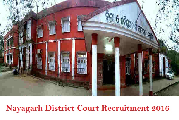 Nayagarh District Court Recruitment 2016