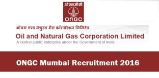 ONGC Mumbai Recruitment 2016