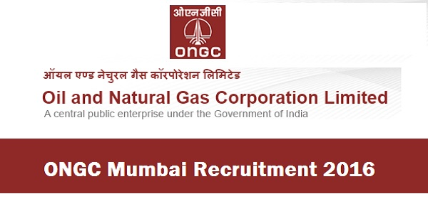 ONGC Mumbai Recruitment 2016