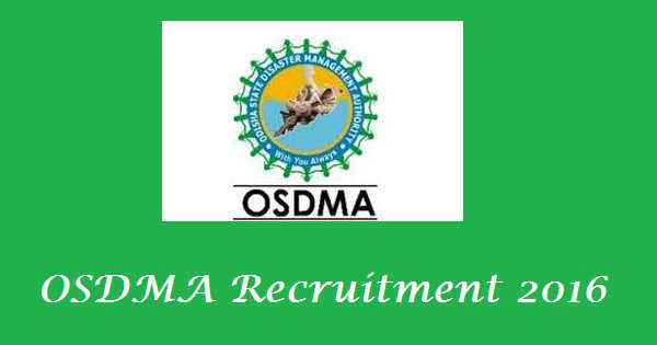 OSDMA Recruitment 2016