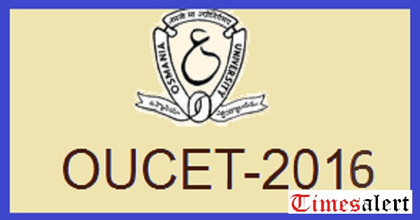 OUCET 2016 admit card download