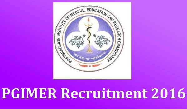 PGIMER Recruitment 2016