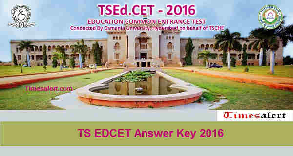 TS EDCET 2016 Answer Key