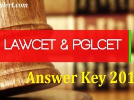 TS LAWCET PGLCET Answer Key 2016