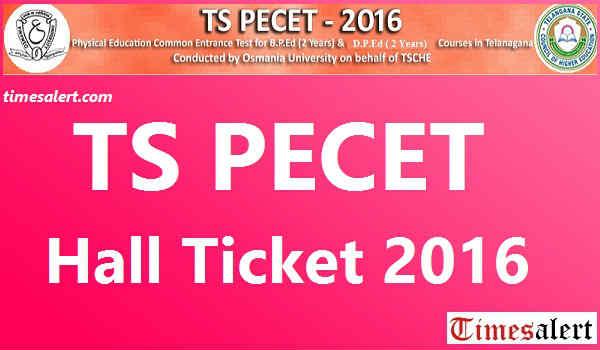TS PECET Hall Ticket 2016