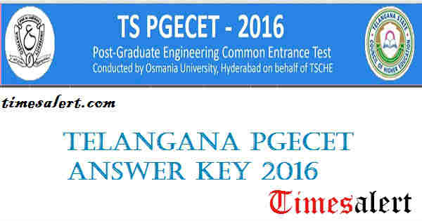 TS PGECET Answer Key 2016
