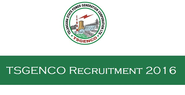 TSGENCO Recruitment 2016