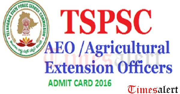 TSPSC AEO Admit Card 2016