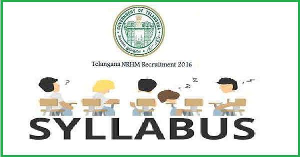 Telangana NRHM Syllabus 2016