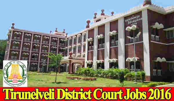Tirunelveli District Court Notification 2016
