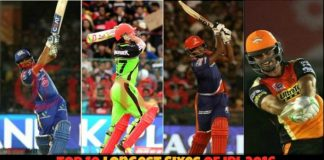 Top 10 Longest Sixes of IPL 2016