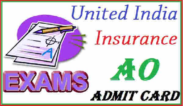 UIIC AO Admit card 2016