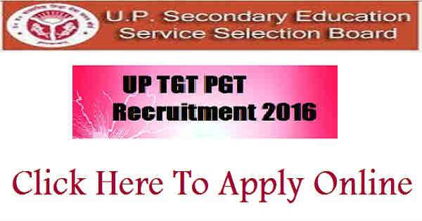 UP TGT PGT Recruitment 2016