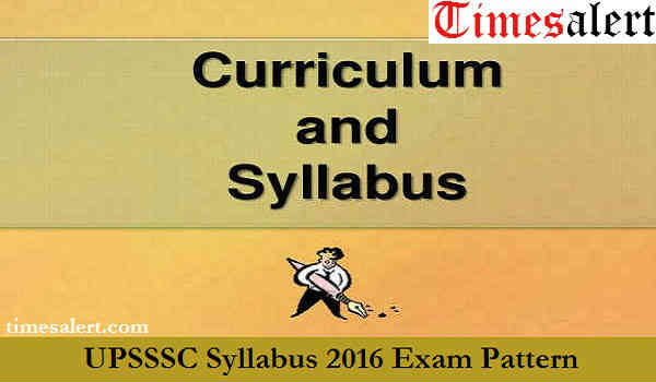 UPSSSC Syllabus 2016