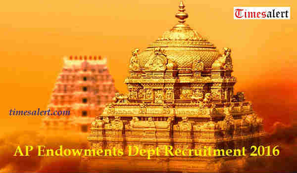 AP Endowments Dept Recruitment 2016