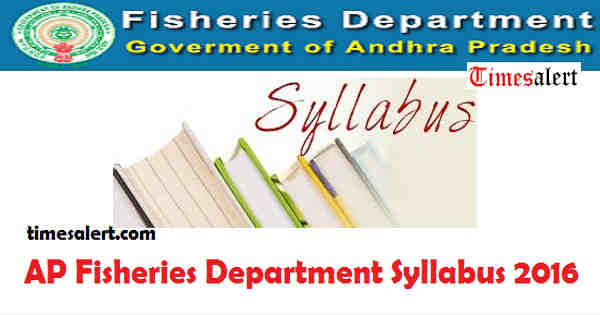 AP Fisheries Department Syllabus 2016