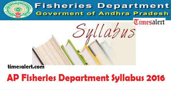 AP Fisheries Department Syllabus 2016