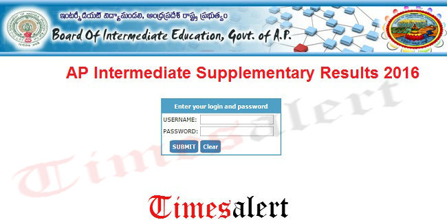 AP Inter Advanced Supplementary Results 2016