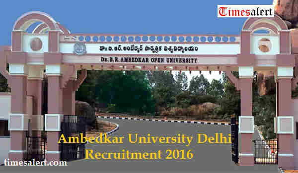 Ambedkar University Delhi Recruitment 2016