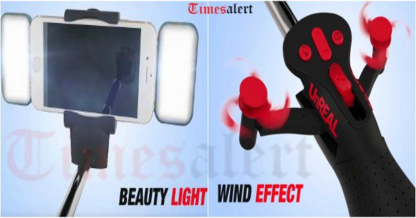 automated selfie stick with fan flash buy online price in india. Black Bedroom Furniture Sets. Home Design Ideas