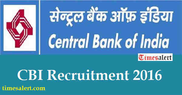 CBI Recruitment 2016