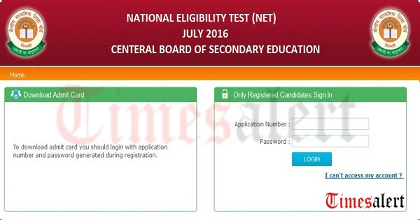 CBSE UGC-NET-ADMIT-CARD 2016