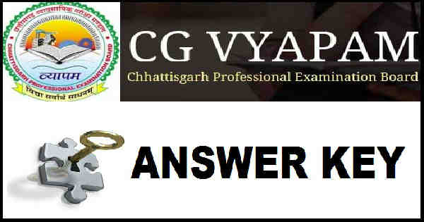 CG PMT Answer Key 2016