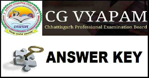 CG PMT Answer Key 2016