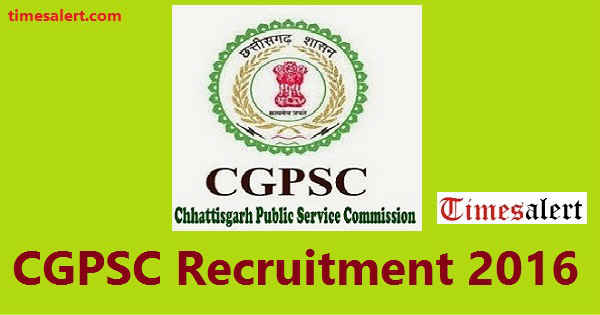 CGPSC Recruitment 2016