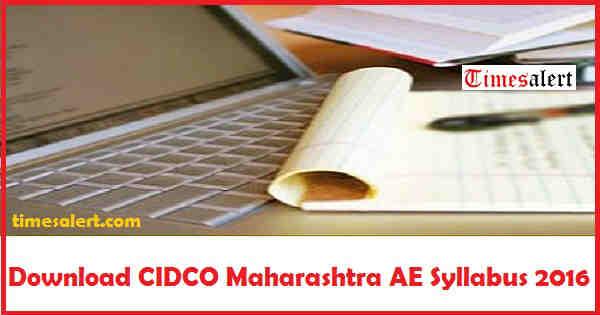 CIDCO Maharashtra Syllabus 2016