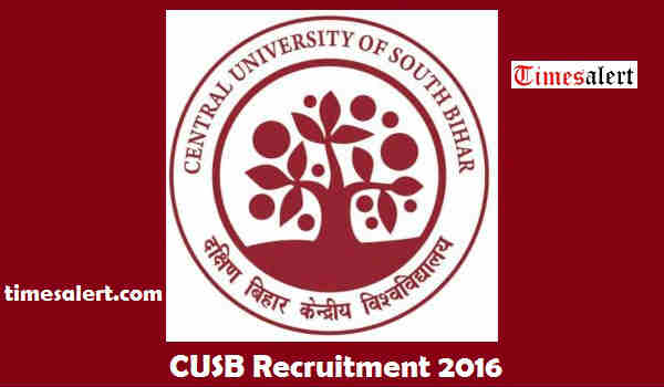 CUSB Recruitment 2016