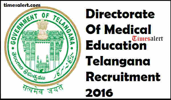 DME Telangana Recruitment 2016