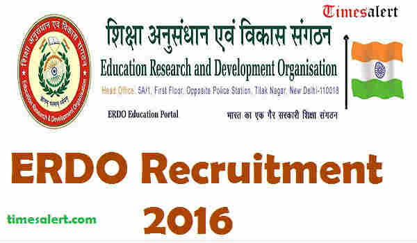 ERDO Recruitment 2016