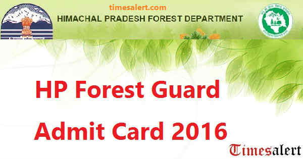 HP Forest Guard Admit Card 2016