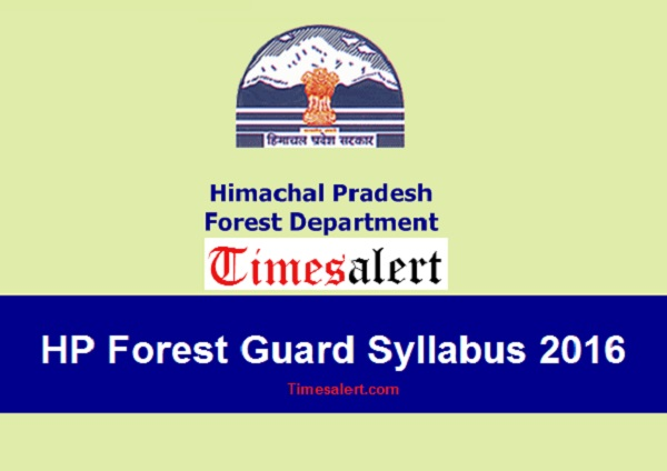 syllabus of HP Forest Guard exam