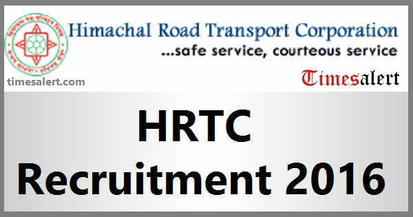 HRTC Recruitment 2016