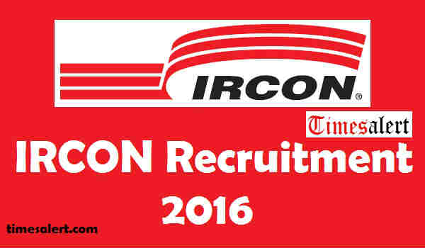 IRCON Recruitment 2016