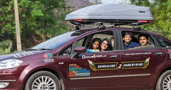 Indian Family Drove Car From Bengaluru To Paris