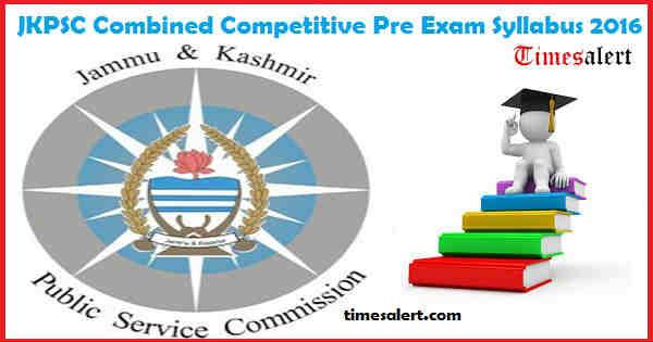 JKPSC Exam Syllabus 2016