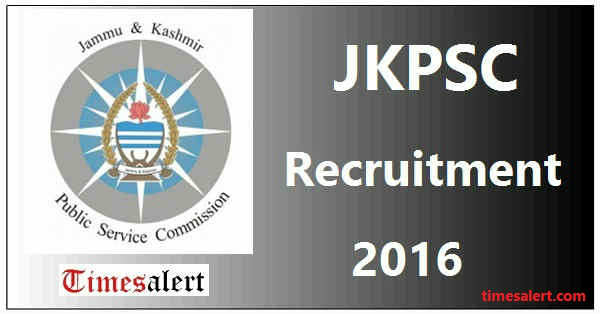 JKPSC Recruitment 2016