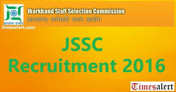 JSSC CGL Recruitment 2016